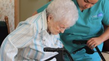 Care To Stay Home caregiver assisting a client