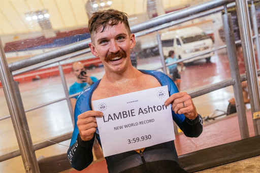 American Cyclist Ashton Lambie Breaks Cycling's '4 Minute Mile' Barrier With a New World Record