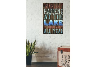 """What Happens at the Lake"" - Wood Sign"