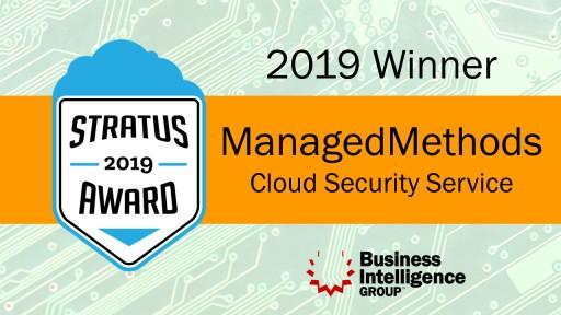 ManagedMethods Wins 2019 Stratus Award for Cloud Computing