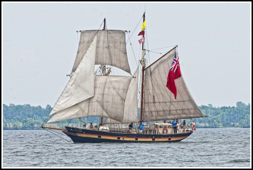 Young Sailors Aboard the ST. LAWRENCE II Sail Into Lake Erie for Tall Ships Erie 2019 Festival