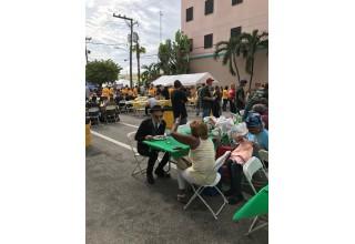 Dr. Farshchian feeding the homeless
