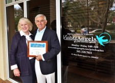 Visiting Angels Owners Irv Seldin and Colleen Haggerty Receive 2019 Best of Home Care Award