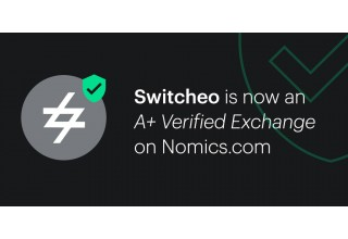 "Switcheo Is Named an ""A+ Verified Exchange"" by Nomics"