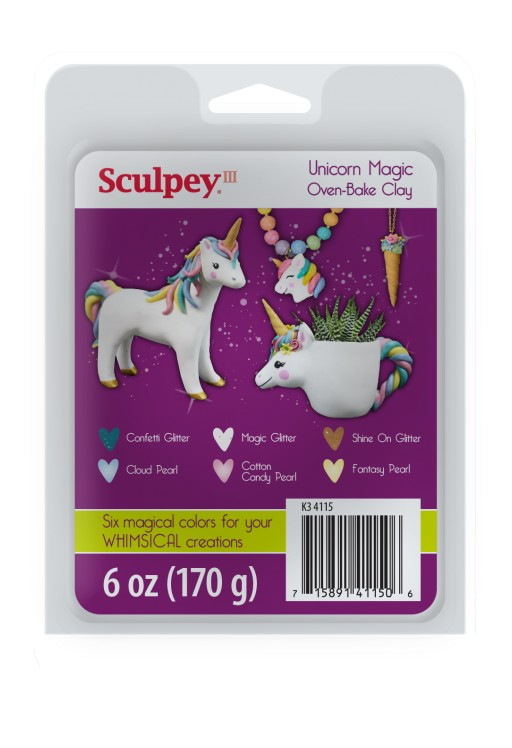 Polyform Products Inc. Announces Limited Edition Sculpey III Unicorn Magic Clay Set