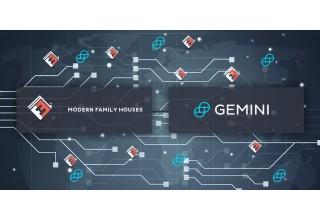 Modern Family Houses Logo and Gemini Dollar Logo