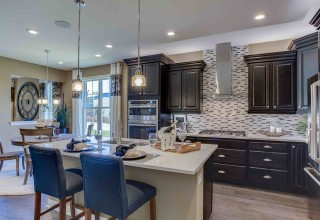 Kitchen in the Allen model at Trafford Place in Naperville