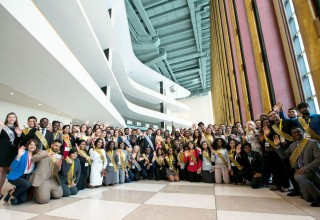 Young activists at the United Nations