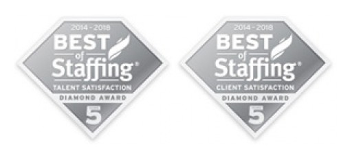Vitamin T Wins Clearlyrated's 2020 Best of Staffing Client and Talent Diamond Awards for Service Excellence
