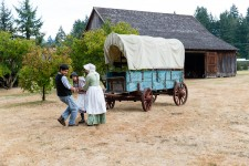 Philip Foster Farm near the end of the Oregon Trail