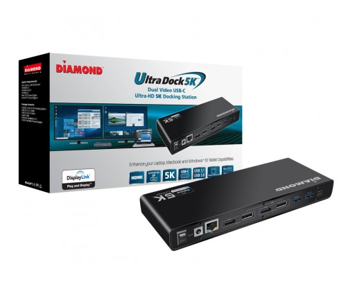 Diamond Multimedia Announces the New Ultra 4K/5K Docking Station, Compatible With Both Type-C and Type-A USB Laptops/Desktop PCs