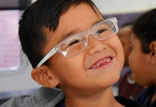 Essilor Vision Foundation young boy in glasses