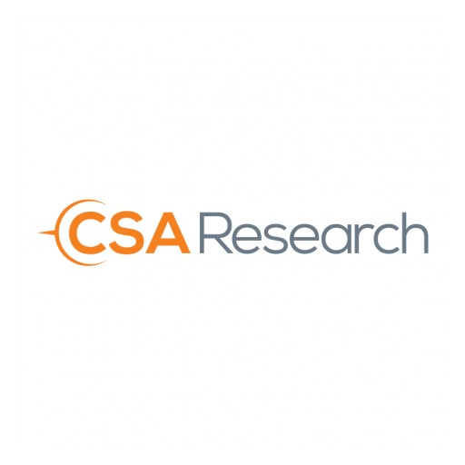 CSA Research Releases Proprietary Global Revenue Forecaster™