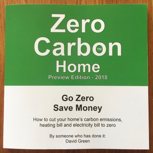 David Green's New Book, Zero Carbon Home, Released by Zero Carbon LLC