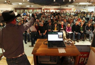 Robb Burley, Auctioneer, During Armadillo World Headquarters Auction