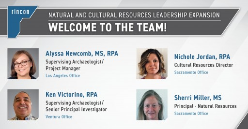 Rincon Expands Natural and Cultural Resources Leadership Team With Four Key Hires