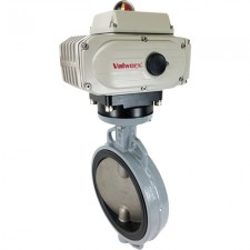 8 Inch Actuated Ductile Iron Butterfly Valve- Wafer/ EPDM