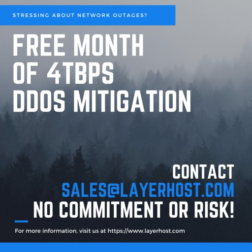 LayerHost.com, Global Leader in DDoS Mitigated Hosting Services, Announces 4Tbps DDoS Mitigation in Los Angeles
