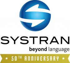 "SYSTRAN 50th anniversary celebration logo. ""50th anniversary"" terms has a yellow background."