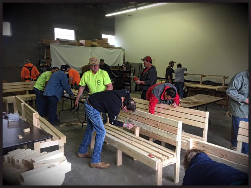 Union Carpenters Local 277 Volunteer to 'Buddy Up' With Elementary Kids