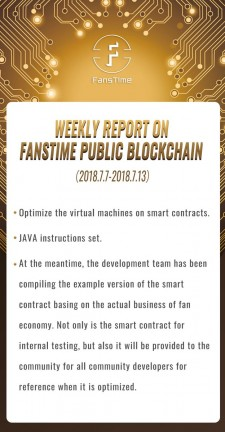 FansTime annouces its process of public Blockchain development