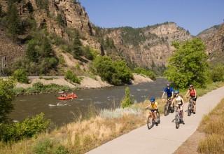 Biking in Glenwood Canyon