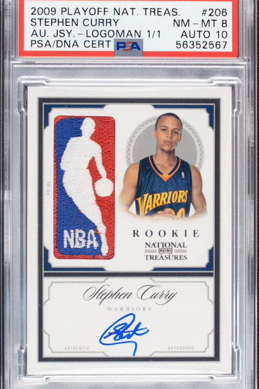 Alt Announces Record-Breaking Purchase of 2009 National Treasures Logoman 1/1 Stephen Curry Card for $5.9M