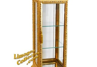Italian Gold-Leaf Vitrine Curio Display Cabinet offered exclusively at LimogesCollector.com