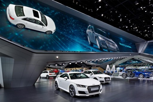 YUCHIP LED Display Provides Beautiful Scenery to 2018 Beijing International Auto Show
