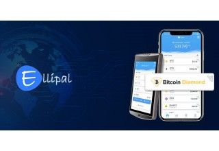 Ellipal Wallet and Bitcoin Diamond Logo