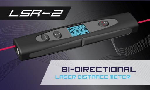 LSR Tech Announces the LSR2 Dual Laser Distance Meter is Now Shipping