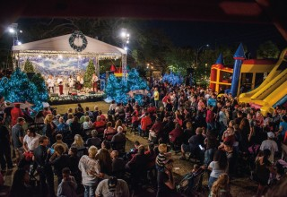 Live entertainment is one of the features of Winter Wonderland, open December 2 through 22 in downtown Clearwater, Florida.