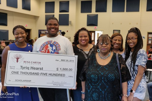 McEachern High School Student Tyriq Hearst Wins Rena Carter Foundation Scholarship