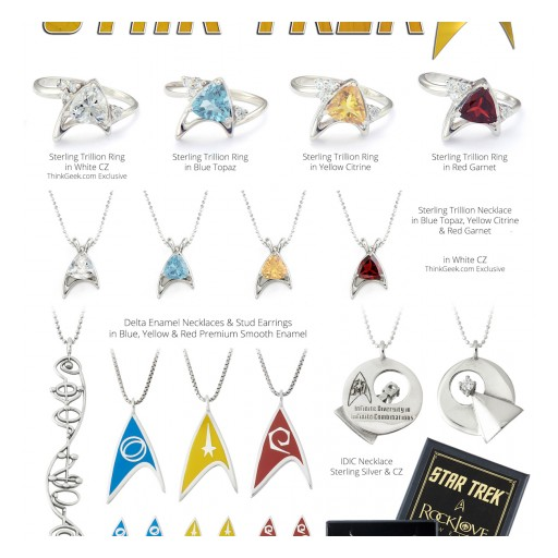 ROCKLOVE JEWELRY HAS PARTNERED WITH CBS FOR A 50TH ANNIVERSARY STAR TREK JEWELRY COLLECTION