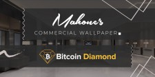 Mahone's Commercial Wallpaper with Bitcoin Diamond