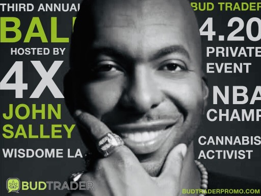 NBA Champ John Salley to Host Third Annual BudTrader Ball on 4/20