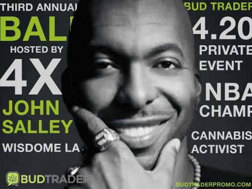 NBA Champ John Salley to Host Third Annual BudTrader Ball on 4/20