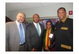 "Anthony ""Amp"" Elmore & South African Ambassador Ebrahim Rasool"