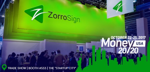 ZorroSign Showcases Digital Transaction Management (DTM) and Mobile Biometrics at Money20/20