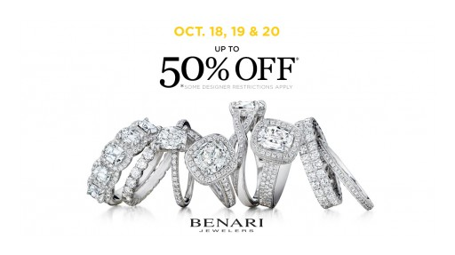 This Month, BENARI JEWELERS Helps Shoppers Save Up to 50% on Bridal Jewelry for the Holidays