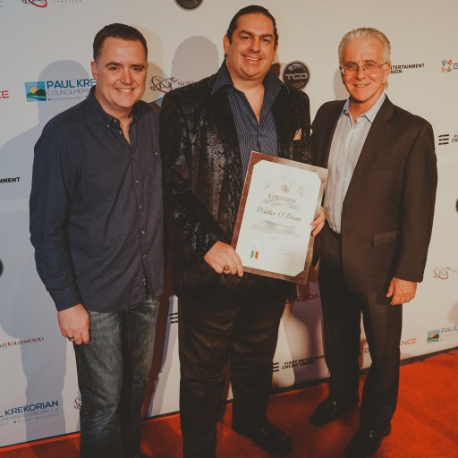 Walter O'Brien Receives the Humanitarian Award at North Hollywood's 5th Annual 'NoHo CineFest'