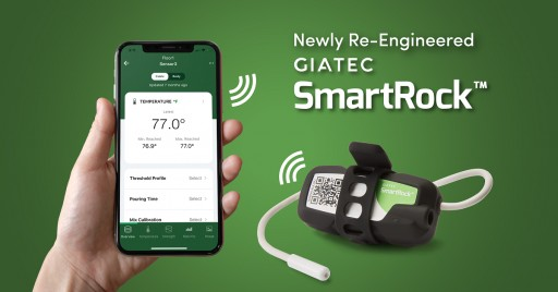 Giatec's Newly Re-Engineered SmartRock™ Concrete Sensor Launches With Dual-Temperature Functionality