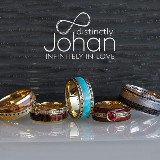 Jewelry by Johan Released New Premium Line of Eternity Wedding Rings With Meteorite, Dino, Antler, Wood