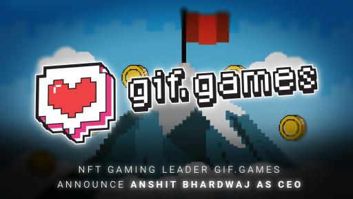 NFT Gaming Leader Gif.games Announces Anshit Bhardwaj as CEO