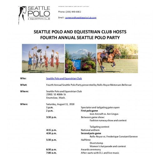 Seattle Polo Party - August 11th