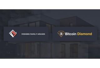 Modern Family Houses Logo and Bitcoin Diamond Logo