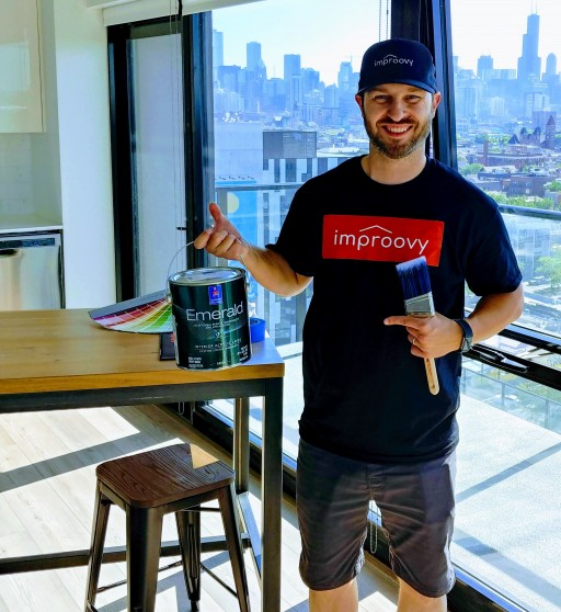 Chicago Startup Improovy On-Demand House Painting Service Launches New Location in Naperville, IL