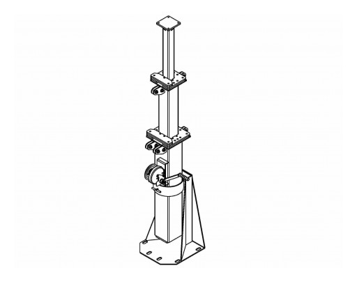 Larson Electronics Releases 8-Foot, 3-Stage Light Mast, 5-Feet to 8-Feet, 360-Degree Rotation, 1,000 Lb Payload, Coiled Cable