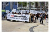 The march was timed to coincide with the annual American Psychiatric Association meeting in San Diego.
