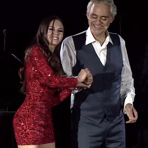 Andrea Bocelli and Lola Astanova in 'The Journey to the Theatre of Silence' Released Today